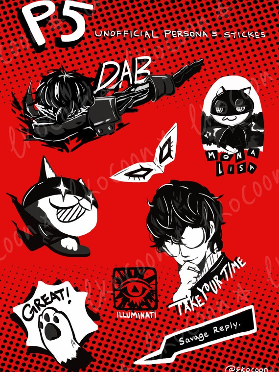 Who Accepts American Express >> Persona 5 Vinyl Sticker Sheet