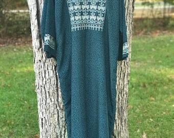 embroidered international long maxi dress
