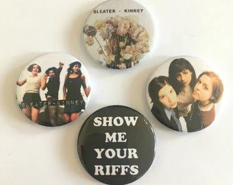 Sleater-Kinney 4 Badge Set