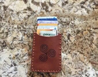 Celtic Tri-Spiral Slim Wallet
