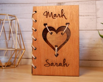 Wooden Valentines Card, Personalisable Laser Engraved Card, Rustic Card, Anniversary Card