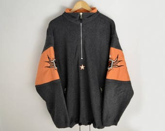 Killtec Vintage Feece half zip Top Killtec Pullover Men Jacket Ski Snowboarding 90s jacket Warm-up jacket Fleece sweater Fleece windbreaker