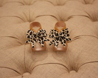 baby shoes, baby girl, girl shoes, baby sandals, leopard, Carole Petals