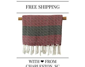 30% Off STELLA Crimson Turkish Towel Peshtemal (This offer is available for 3 sets only until July 24 17:00)
