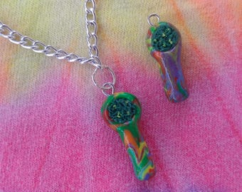 Rainbow Pipe Necklace