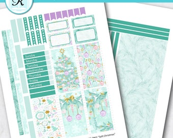 Passion Planner Stickers * Classic Sized Passion Planner * Printable Planner Stickers - SOFT CHRISTMAS - Digital Download
