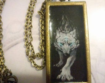 Gold Native American Wolf Necklace