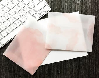 Transparent Envelopes Set - Pale Pink