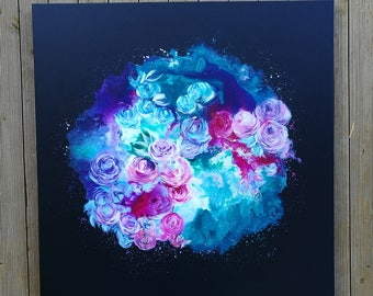 "Painting on canvas ""Roses for Cassie"""