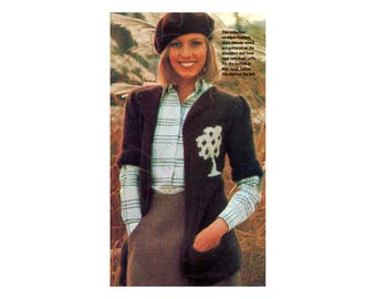 Tree Cardigan Knitting Pattern- Long with short sleeves