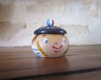 Boîte à dents de lait en bois peintes à la main : le petit parisien