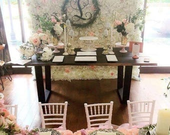 White Flower Wall/Backdrop Rental  Customization Available. Perfect For A  Bridal Shower,