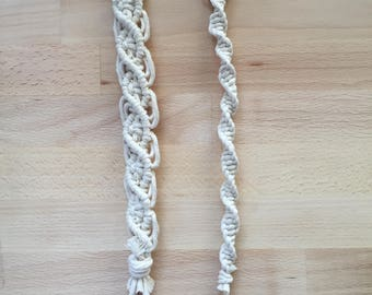 Macrame Pacifier Leash & Clip