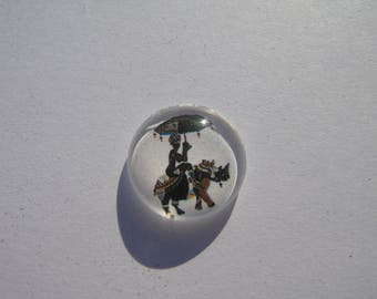 Elephant 20 mm round domed cabochon