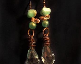 Green Wire Earrings