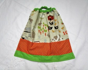 Towel for child, learn to count on the farm