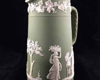 Vintage WEDGWOOD Jasperware Pitcher Made in England
