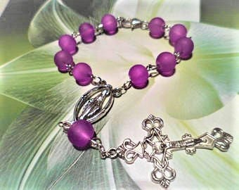 Glass purple Tenner silver 17 cm, for keepsake gift boxes Easter with clasp