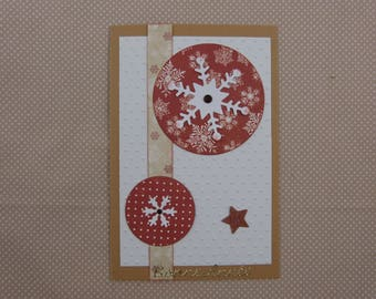 "Greeting card ""new year"" craft"