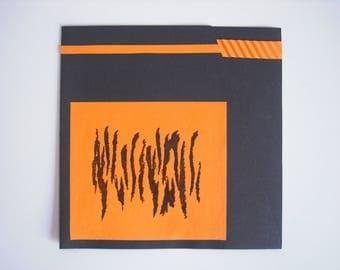 Card coat tiger orange / black all occasions