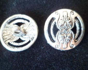 2 buttons 17 mm silver Metal for Giants coat jacket
