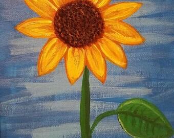 Sunflower Painting on 8x10