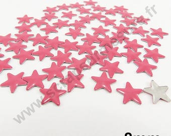 Fusible Star - Pink - 8mm - x 75pcs