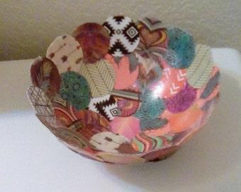 Unique handmade paper bowl