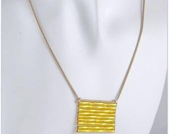 Necklace with shimmering glass tubes on snake chain copper - 123 by MP Bertrand stones jewelry