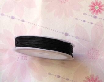 Black wax cord, 10mx1mm