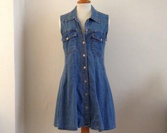 90's denim dress