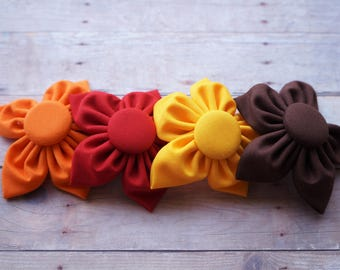 Fabric Flower Hair Clip - Lg