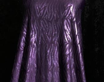 SMALL SEQUINS Geometric Design Sewn on Polyester Spandex ITY Knit (Plum) Free Shipping in U.S.