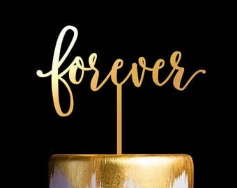 Forever Wedding Cake Topper, Keepsake Cake Toppers
