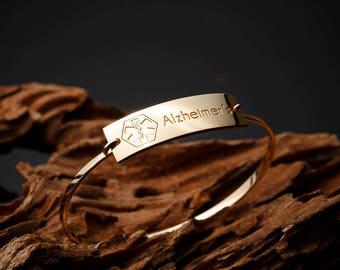 Personalized Medical Bracelet • Medical Alert Bracelet •Medical ID Diabetic Bracelet •Custom Kids Medical Bracelet L7-CN10.35