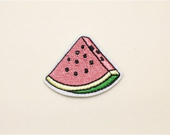 Watermelon patch - fruit patch, food patch, patch pin, iron on patch fruit, embroidered patch food, sew on patch, patch for t-shirt
