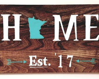 "Rustic ""Home"" Sign"
