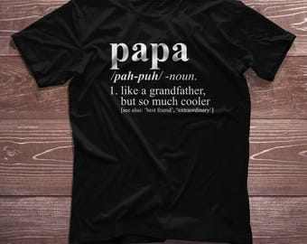 Papa Shirt - Dictionary Definition - Pregnancy Reveal, Birth Announcement, Christmas Gift, Papa T-Shirt, Papa Gift