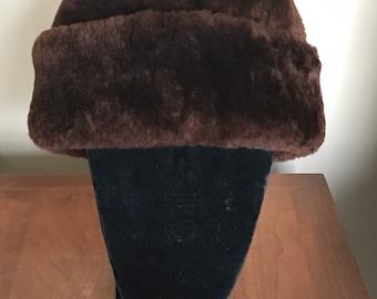 Vintage Stenson Hat/Genuine Mouton Hat