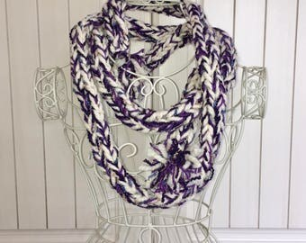 Finger Knitted Scarf