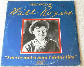The Voice Of Will Rogers - Spoken Word - 1973 Vinyl LP