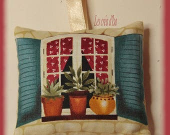 cushion olives pattern filled with Lavender buds