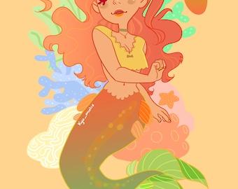 Mango Mermaid Sticker