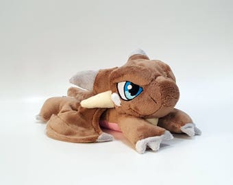 Yu-Gi-Oh - Thousand Dragon-  laying down beanie custom plush - to be made