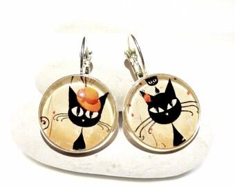 Cats earrings fun