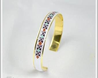 Gold plated Bangle 24 k Inka Maria 3 colors