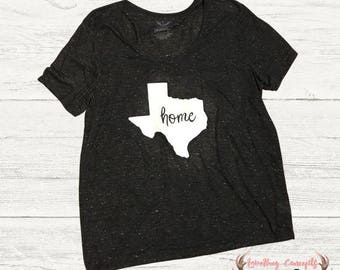 Texas Home T-shirt - Shape of Texas