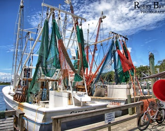 South Port Shrimp Fleet, South Port NC by Robby Bryant Photography