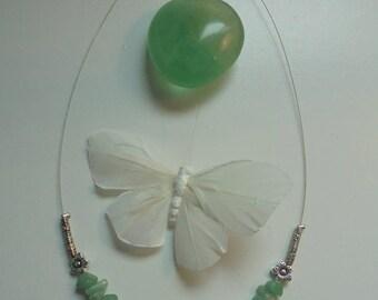 Aventurine necklace green natural stones