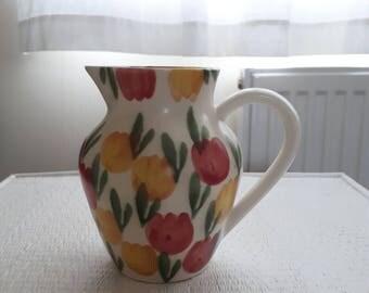 Ben Thomas Studio Pottery Jug with a Tulip Pattern
